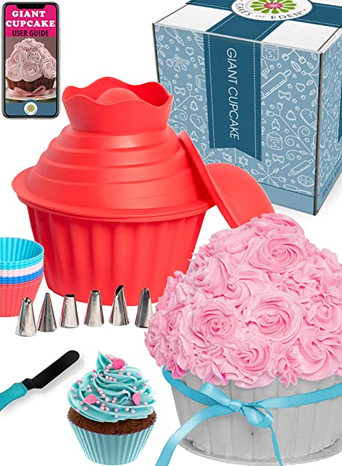 Amazon 29pcs Giant Cupcake Pan Silicone Molds Extra Huge