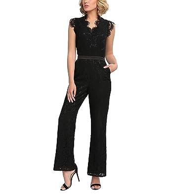 APART Fashion Damen Jumpsuit 54506, (Schwarz), 36  Amazon.de  Bekleidung d91baabb57