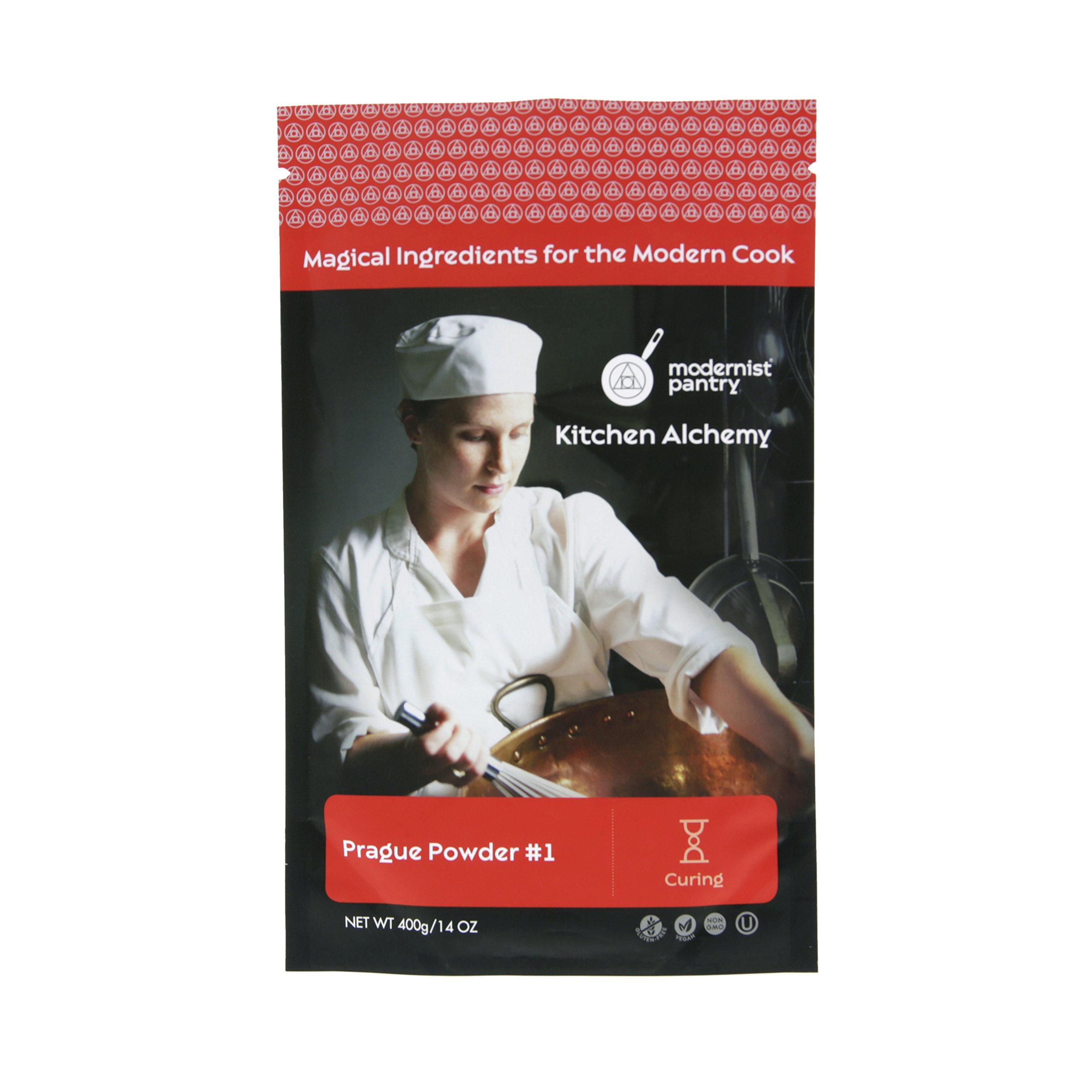 Pure Prague Powder #1 [aka Insta Cure #1, DQ Pink Curing Salt, Sel Rose] ⊘ Non-GMO ❤ Gluten-Free ✡ OU Kosher Certified - 400g/14oz