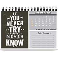 Accuprints motivational 2020 Calendar for desk for motivational motivation 2020 Planner office home table new year hanging kids all year students school gift girls room living room india planning new marking quotes