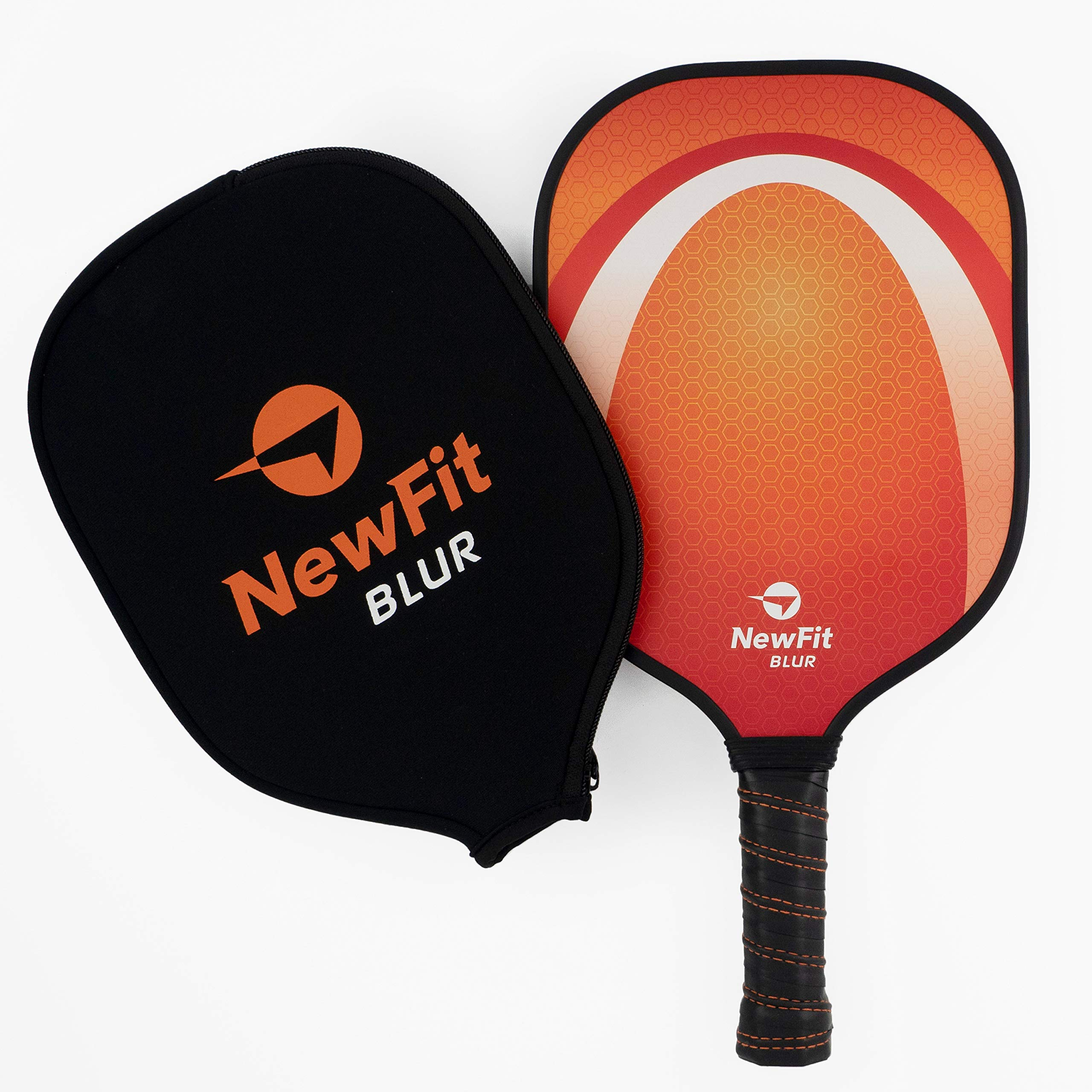 NewFit Blur Pickleball Paddle - USAPA Approved - Graphite Face & Polymer Core for a Quiet and Light Racket (Orange Single) by NewFit Sports