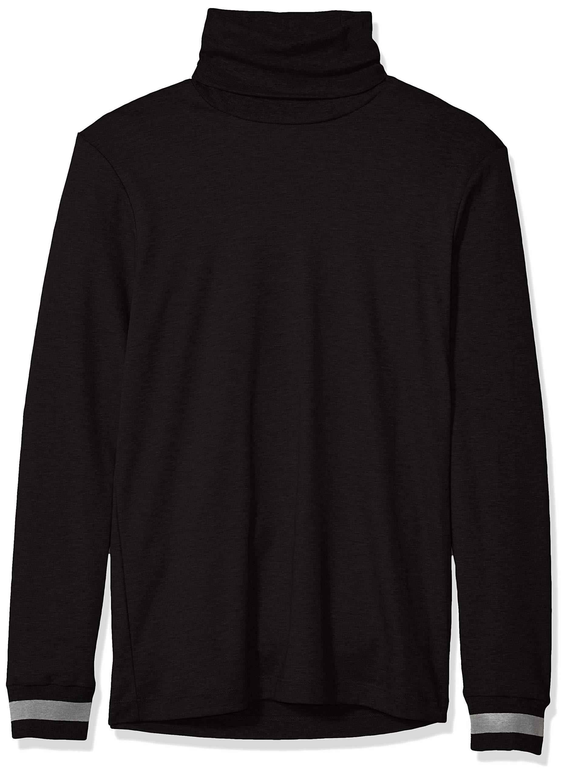 Calvin Klein Men's Long Sleeve Turtleneck Sweater, Black X-Small