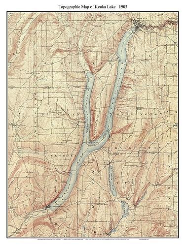 Amazon Com Keuka Lake 1903 Usgs Old Topographic Map Custom