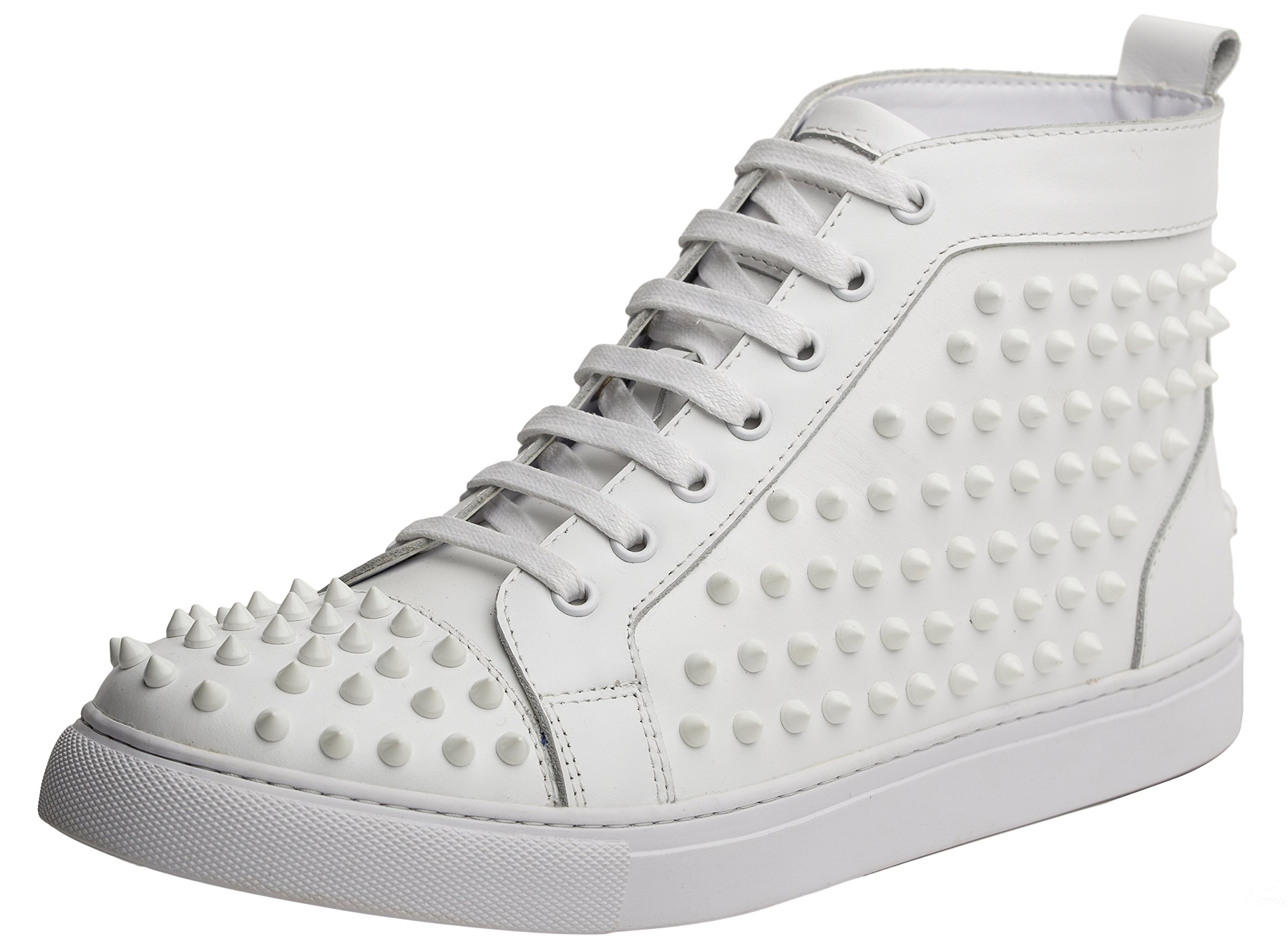 J75 by Jump Men's Zoo High-Top Fashion Sneaker White 9 D US by J75