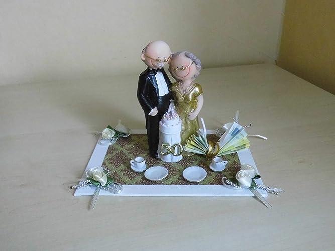 Goldene Hochzeit Goldhochzeit 50 Jahre Verheiratet Geschenkdeko