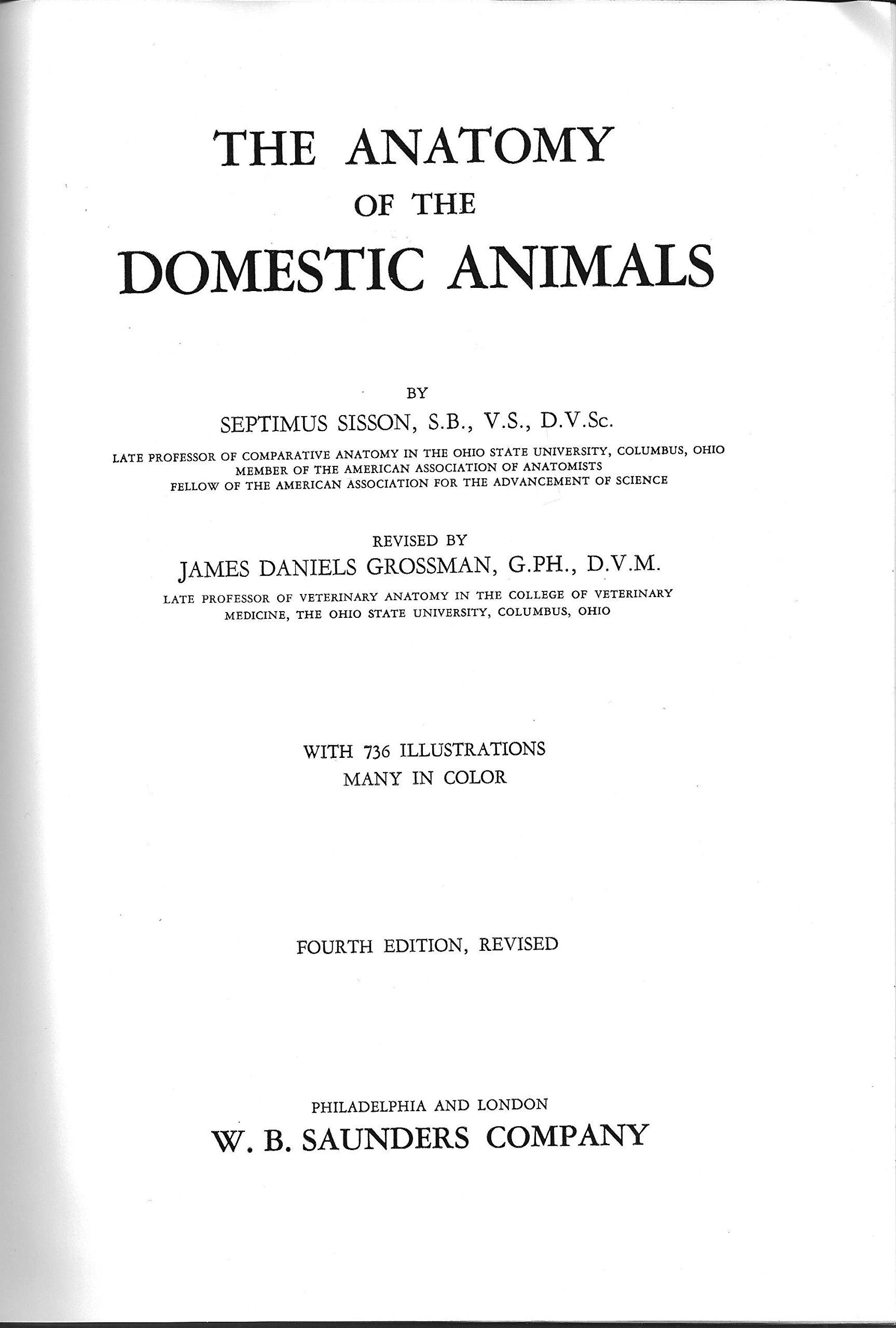 Anatomy of the Domestic Animals: Septimus Sisson, James Daniels ...
