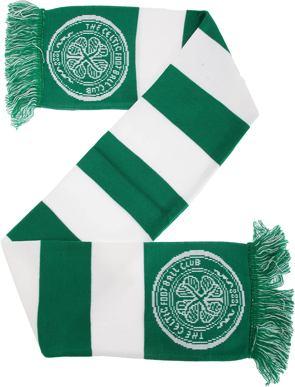 Celtic FC Official Bar Jacquard Scarf