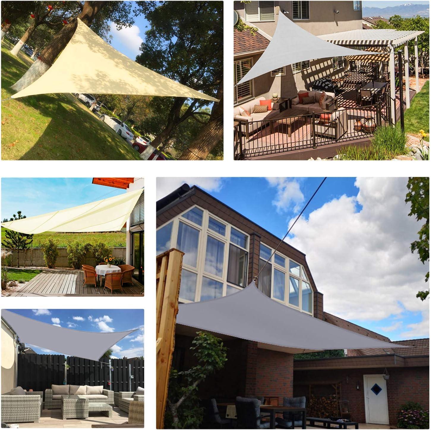 Waterproof UV Block Garden Patio Canopy for Outdoor Garden Patio 2 x 3m KONVINIT Sun Shade Sail Rectangle