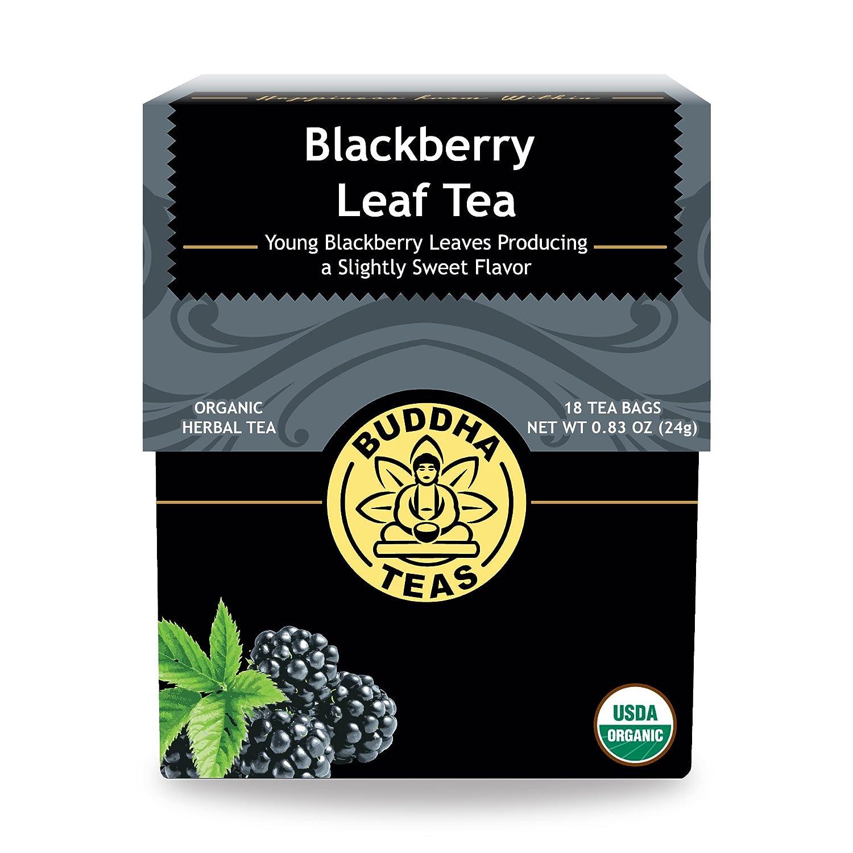 Organic Blackberry Leaf Tea - Kosher, Caffeine-Free, GMO-Free - 18 Bleach-Free Tea Bags