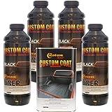 Custom Coat BLACK 4 Liter Urethane Spray-On Truck Bed Liner Kit