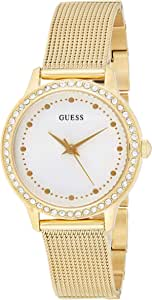 GUESS - W0647L2 - WATCH FOR LADIES GOLD WITH CRYSTALS - MESH BRACELET