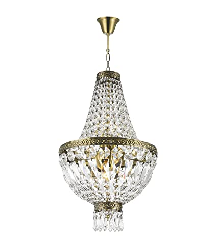 "Worldwide Lighting W83088B12 Metropolitan Collection 5 Light Clear Crystal  Chandelier 12"" D x 20"" - Worldwide Lighting W83088B12 Metropolitan Collection 5 Light Clear"