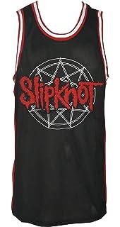 a30a7fb2f9e Amazon.com: Slipknot Logo Black/RED Basketball Jersey: Clothing