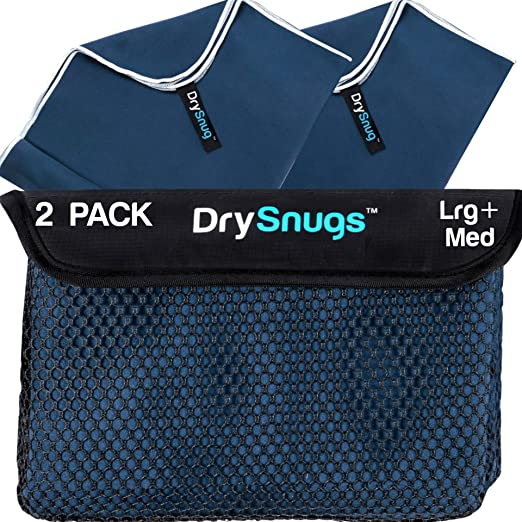 Travel Bag /& Carabiner Fast Dry Absorbent Soft-Perfect for Beach Yoga Fitness Bath Camp Lightweight EL Navy Blue 1pack SYOURSELF Microfiber Sports /& Travel Towel- 76cmx152cm