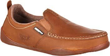 Georgia Boot Cedar Falls Moc-Toe Slip-On Shoes-G050