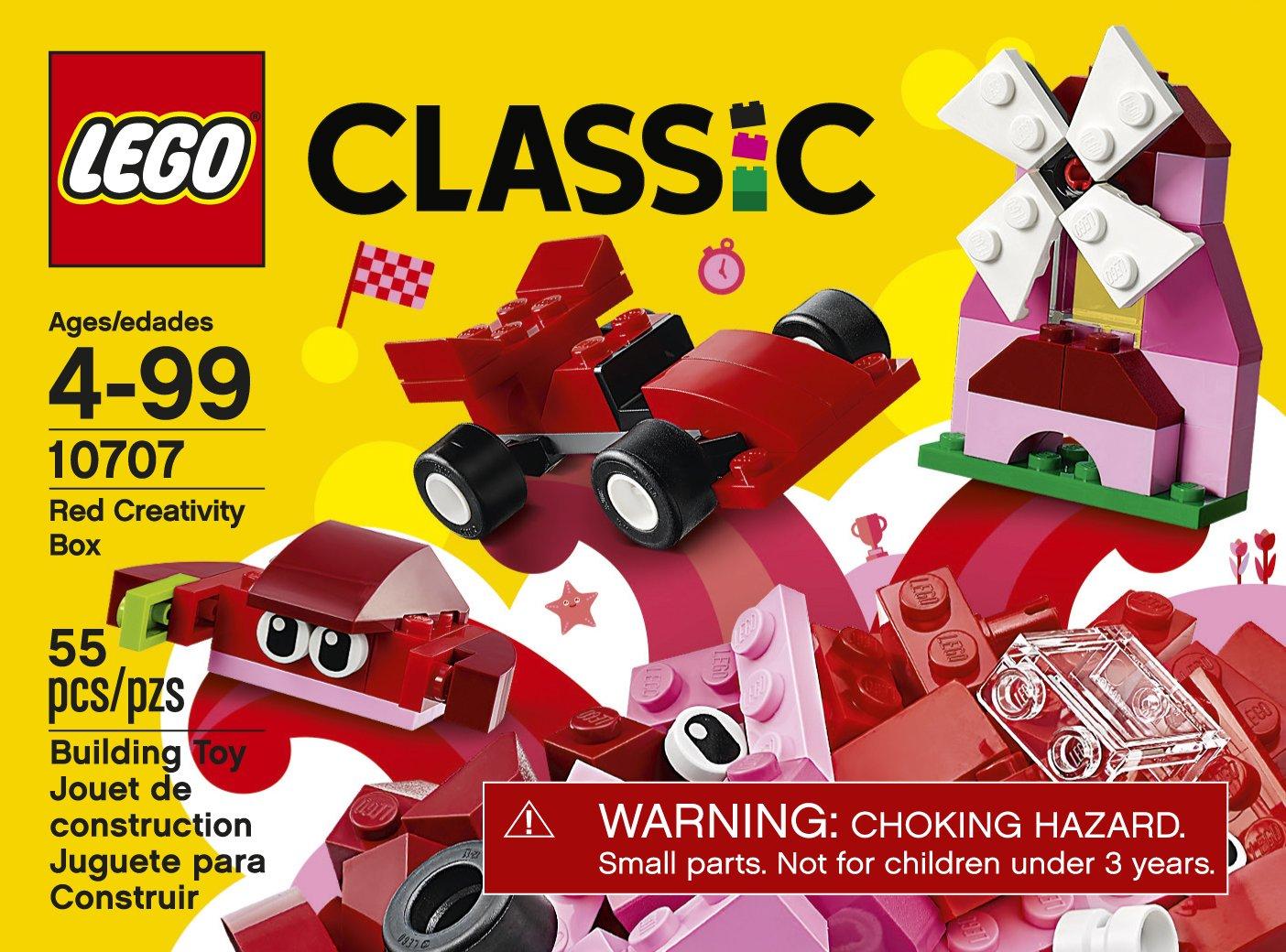 Amazon com: LEGO Classic Red Creativity Box 10707 Building