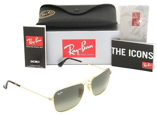a109087ce5 Amazon.com  Ray-Ban Caravan Gold Frame   Grey Gradient RB 3136 181 ...