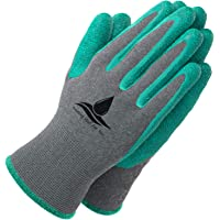 Garden Gloves Women and Men 2 pairs, Super Grippy Texture for Gardening and Work Activities - S,M,L Sizes (Small)
