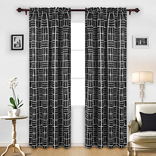 Deconovo Fashionable Print Blackout Darkening Curtain Panels - the best window curtain panel for the money