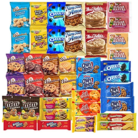 A Great Surprise Variedad de cookies Pack surtido individualmente incluyendo: Galletas Oreo, Keebler,
