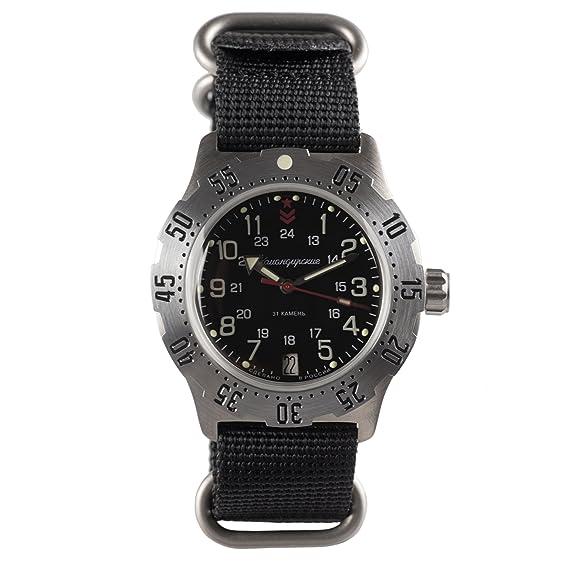 Vostok ruso mecánico K-35 # 350751 KOMANDIRSKIE reloj de pulsera, automático 2416b: Amazon.es: Relojes