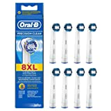 Braun Oral-B Precision Clean Electric Replacement Toothbrush Heads - 8 Heads