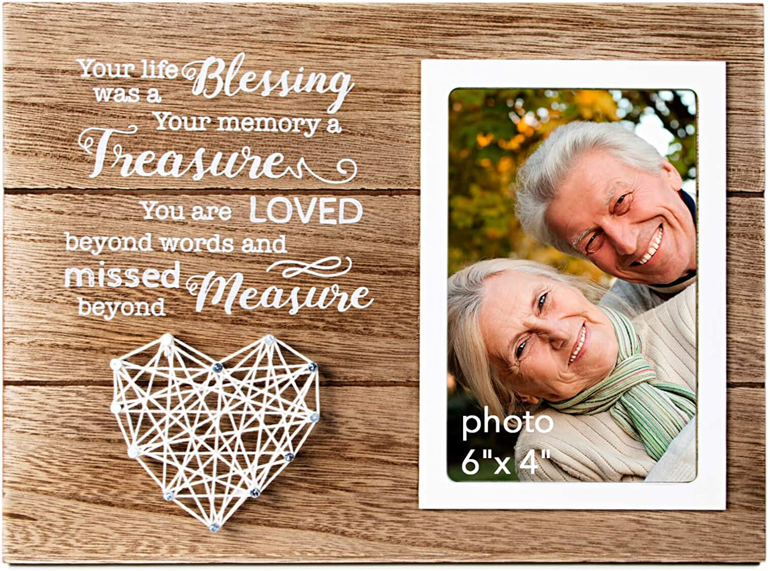 VILIGHT Memorial Picture Frame Sympathy Gifts for Loss of Loved One - Remembrance and Bereavement Present - 4x6 Photo