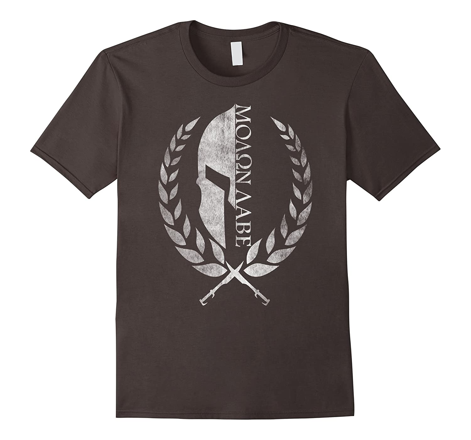 65bd83791ae Amazon.com  Molon Labe Vintage T-shirt - Spartan white color ver  Clothing