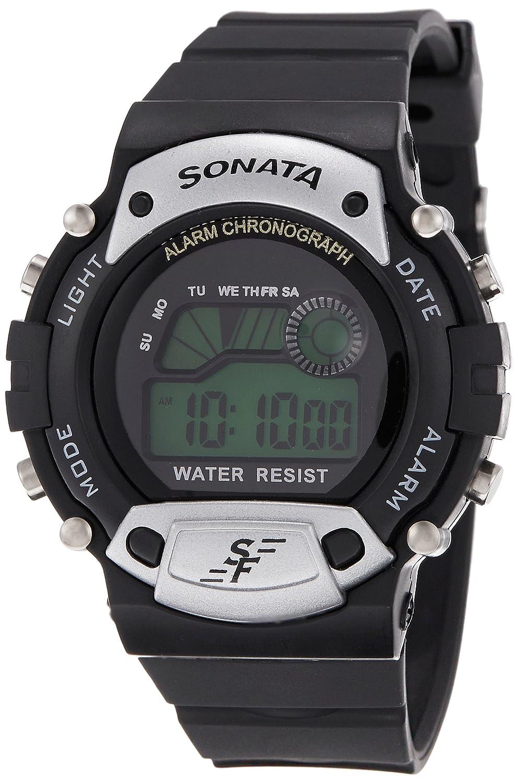 Sonata Super Fibre Digital Grey Dial Men's Watch