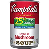 Campbell's 25% Less Sodium Condensed Soup, Cream of Mushroom, 10.5 Ounce