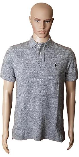 Polo Ralph Lauren Classic Fit Mesh Pony Logo Polo Shirt (S, CntbryHth) a51217474b
