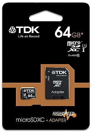 TDK SDXC Class 10 - Tarjeta De Memoria Microsd Xc Clase 10 ...