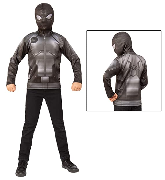 Amazon.com: Boys Spider-Man Far From Home Black Stealth ...