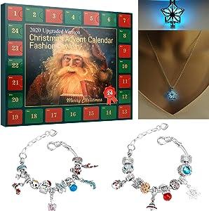 hiwild Advent Calendar, Christmas Advent Calendar, Advent Calendar 2020 DIY Bracelets Fashion, DIY 24 Day Christmas Countdown Calendar