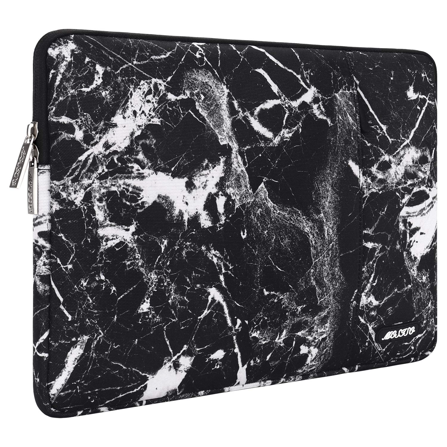 MOSISO Laptop Sleeve Bag Compatible 13-13.3 Inch MacBook Pro, MacBook Air, Notebook Computer, Vertical Style Water Repellent Polyester Protective Case Cover with Pocket, Black Marble by MOSISO (Image #6)