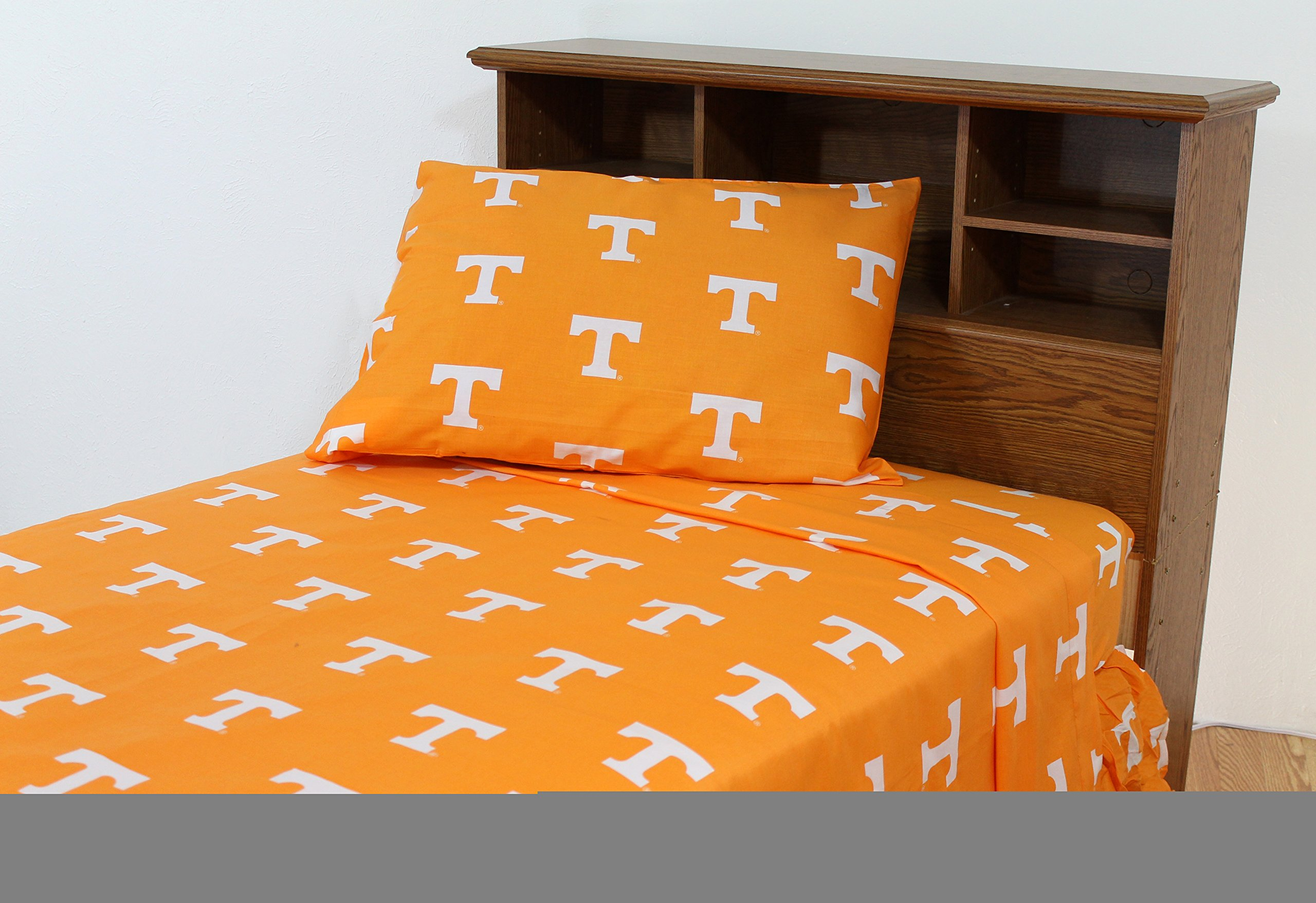 Tennessee Printed Sheet Set King - Solid by College Covers by College Covers