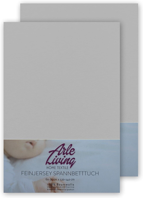 2x lavendel // lavender Pack Double en jersey fin enfants Baby Drap Housse pour enfants//Lit b/éb/é uni ou multicolore de 140/g//m/² 70/x 140/cm/ /100/% coton peign/é 70x140 cm 100 /% coton