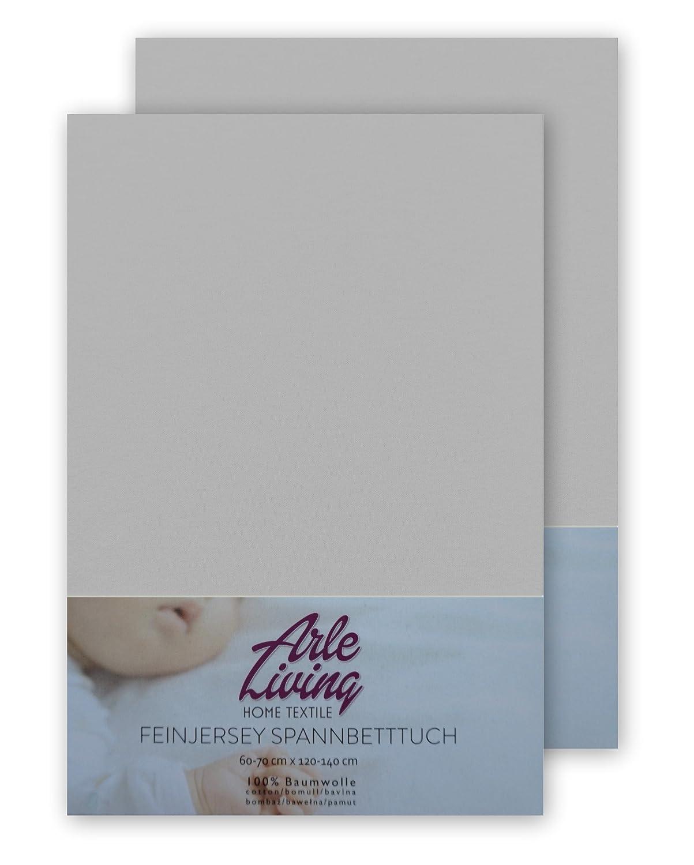 2x mint//mint 140 g//m/² Arle-Living Doppelpack hochwertige Kinder Baby Jersey Spannbettlaken Spannbetttuch 60x120-70x140 cm