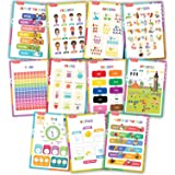 11 Educational Posters For Toddler Learning - Perfect For Classroom, Nursery and Homeschool - Decorations and Poster Supplies For Teachers - Colours, Numbers, Alphabet, Days, Months and More - A3 Size