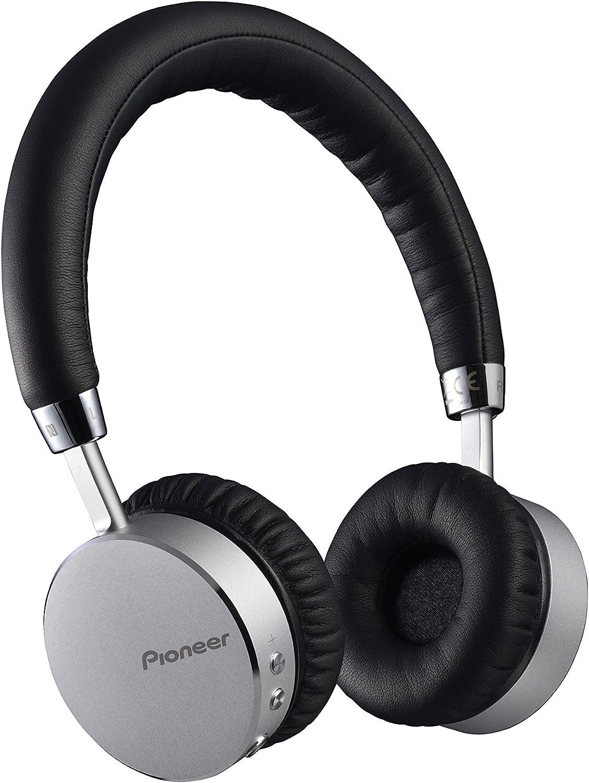 Pioneer SE-MJ561BT-S - Auriculares de Diadema Cerrados Bluetooth (con Micrófono), Plateado/Negro, 19.7 x 18.3 x 3.8 cm