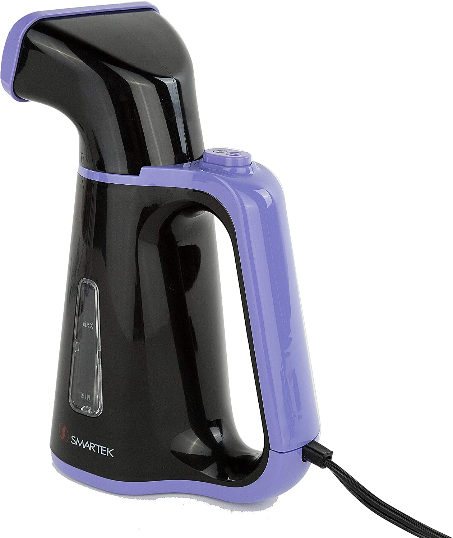 Smartek ST-53B Portable Handheld Fabric Clothes Garment Steamer with Fabric Brush Black /& Purple