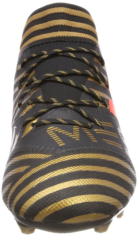 adidas Herren Nemeziz Messi 17.2 Fg Fußballschuhe Schwarz (Core Black/Solar Red/Tactile Gold Metallic)