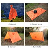 TOMSHOO Raincoat Poncho Backpack Cover Groundsheet