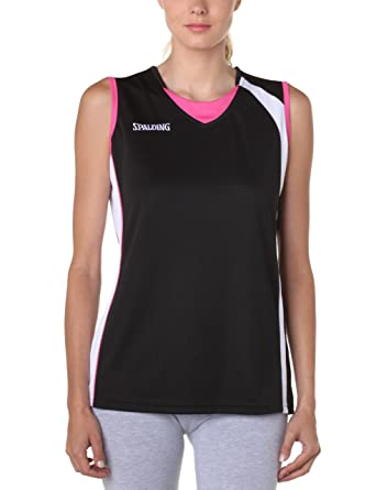 d2dfbc3e Spalding - Camiseta de Baloncesto para Mujer, tamaño XL, Color Negro