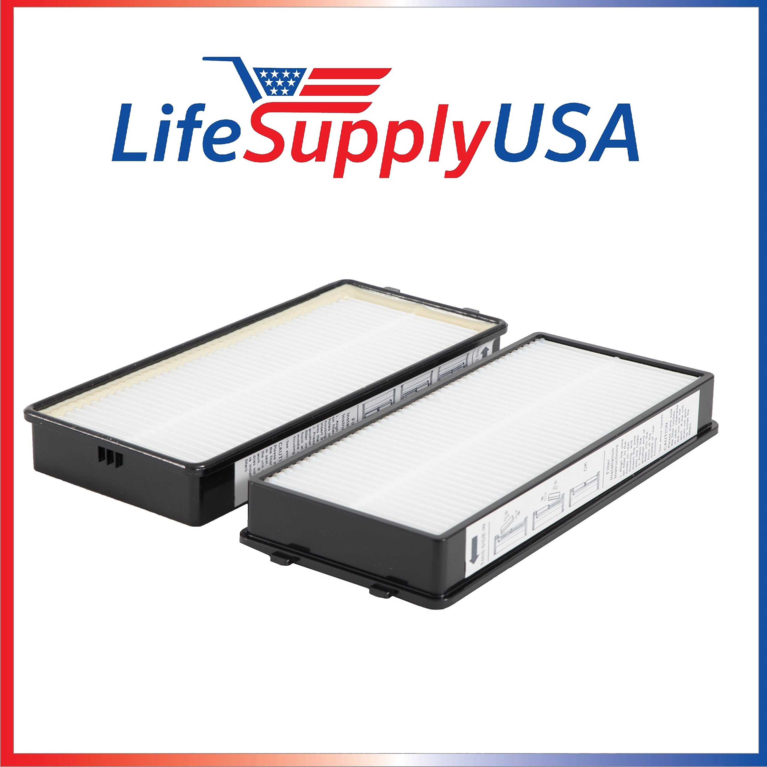 Replacement Hepa Air Filter Set Fits Homedics AR-OTFL AR-15, AR-25, AR-35 and AR-45 - By LifeSupplyUSA