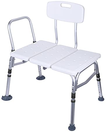 Superior BalanceFrom Adjustable Height Bath Shower Tub Bench Chair With Adjustable  Backrest