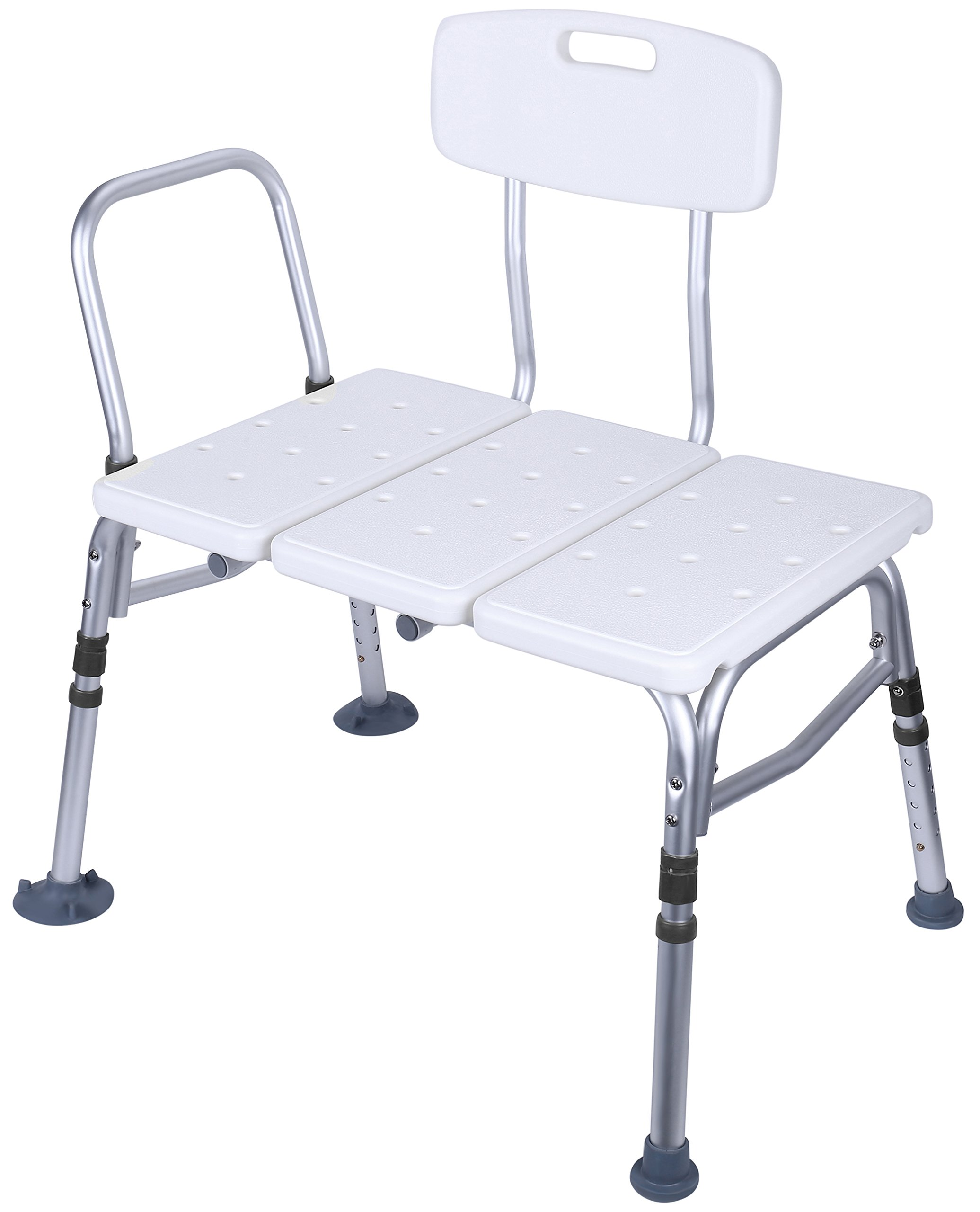 BalanceFrom Adjustable Height Bath Shower Tub Bench Chair with Adjustable Backrest