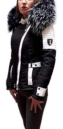 nouveau style de sélection mondiale de styles de mode DJORNO Silverstorn Doudoune Cuir et Fourrure Bi-Matière ...