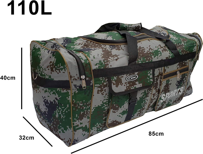 Gimnasio almacenaje Bolsa de Deporte Grande XL de 110L Viaje Maleta para Deporte Impermeable. Camping P.I.Sport N.Y