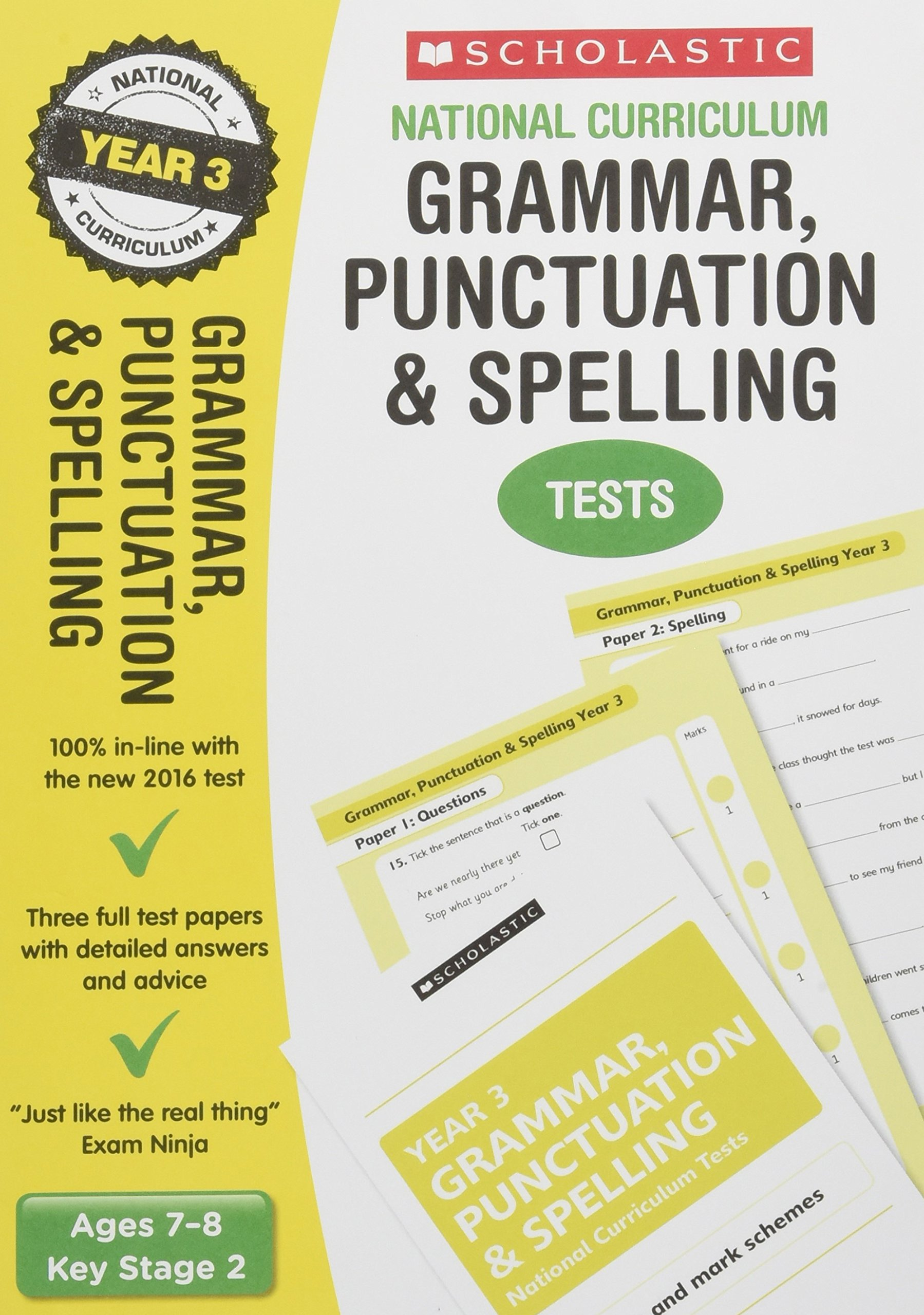 Grammar, Punctuation and Spelling Test - Year 3 (National ...